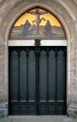 Thesis door Castle Church, Wittenberg